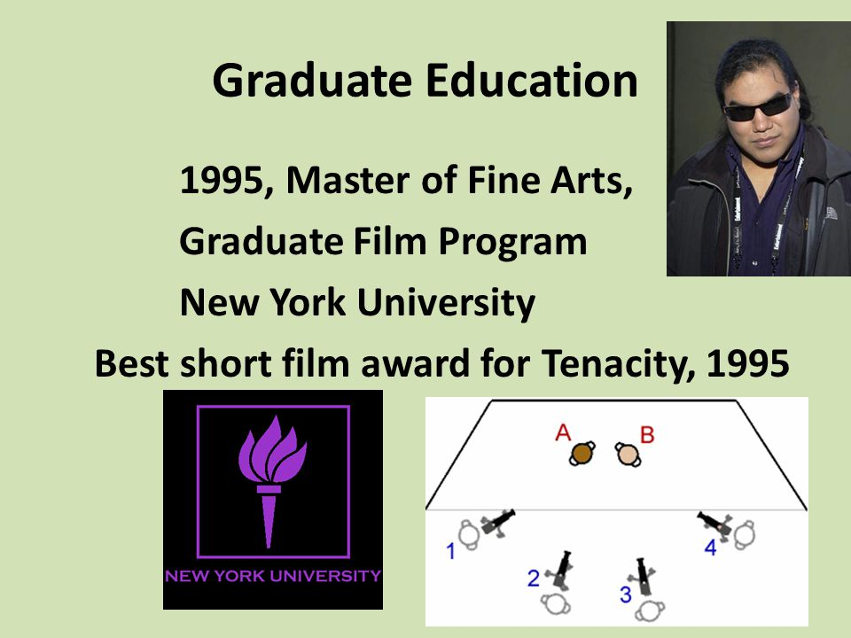 Graduate Education 1995, Master of Fine Arts, Graduate Film Program
