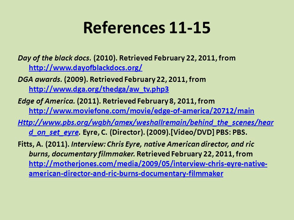 References 11-15