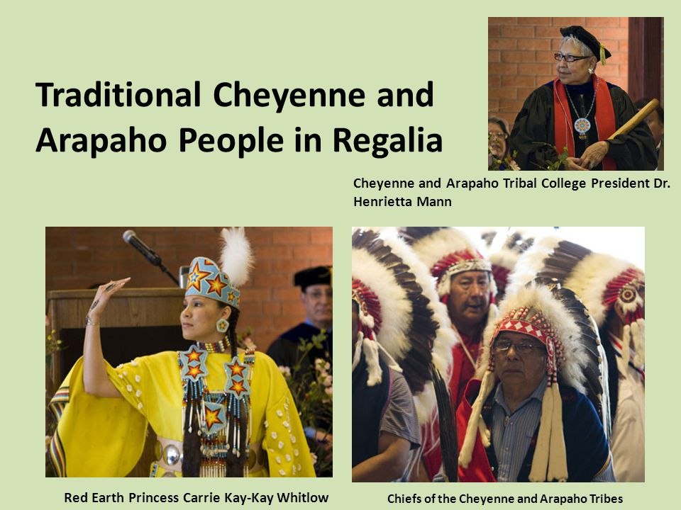 Traditional Cheyenne and Arapaho People in Regalia