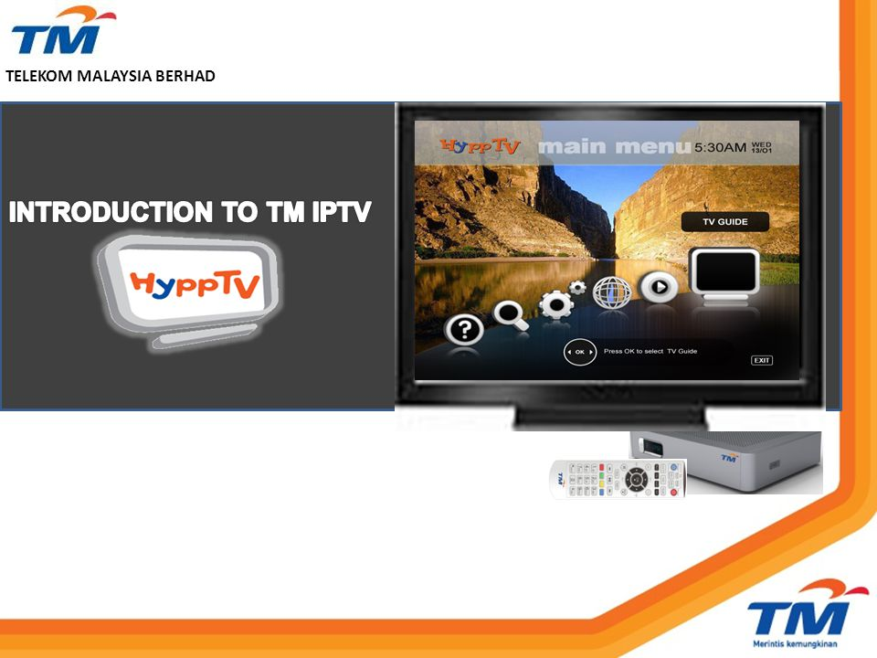 INTRODUCTION TO TM IPTV