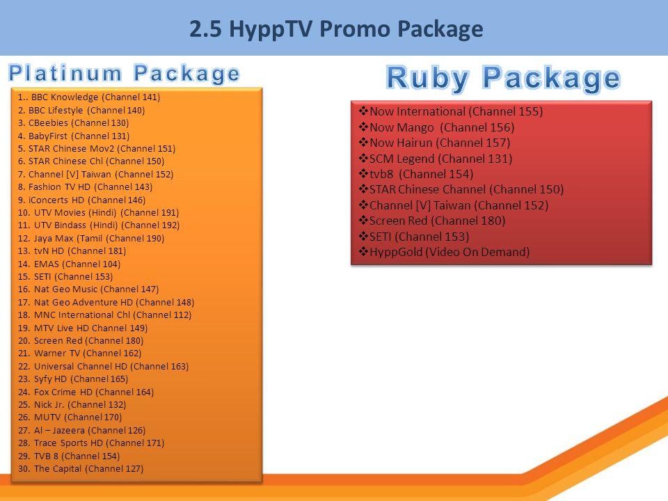 Ruby Package 2.5 HyppTV Promo Package Platinum Package