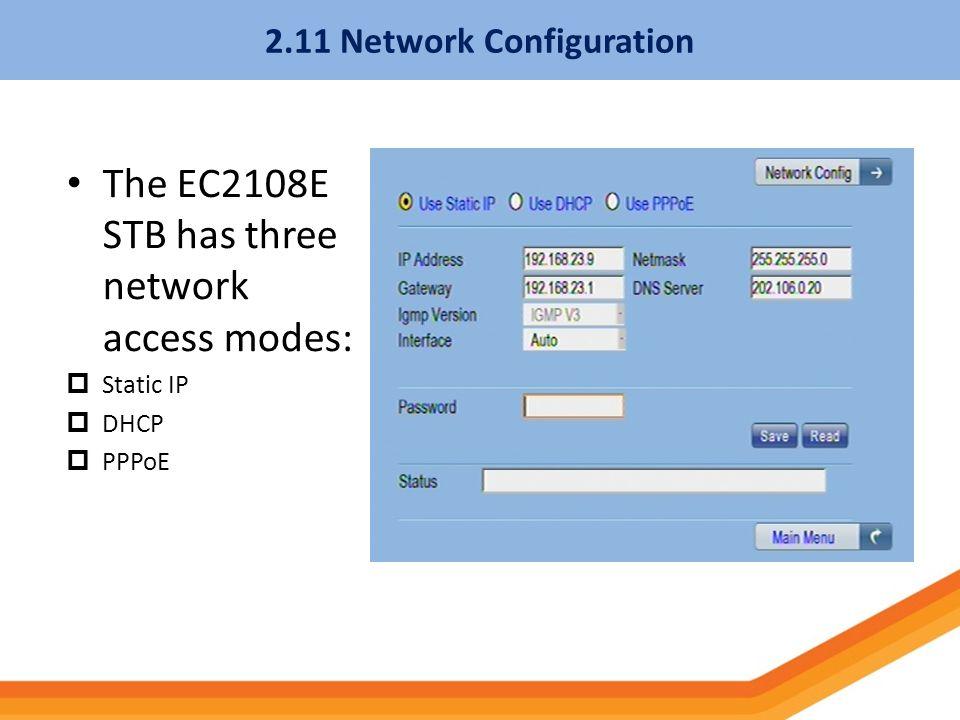 2.11 Network Configuration
