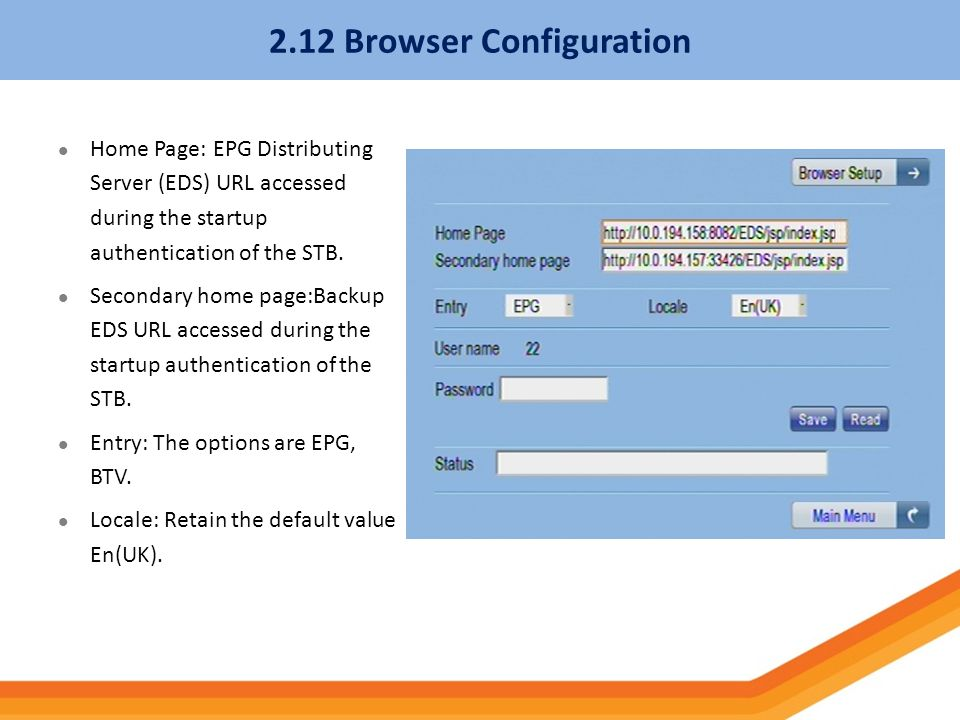 2.12 Browser Configuration