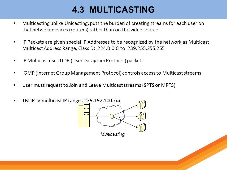 4.3 MULTICASTING