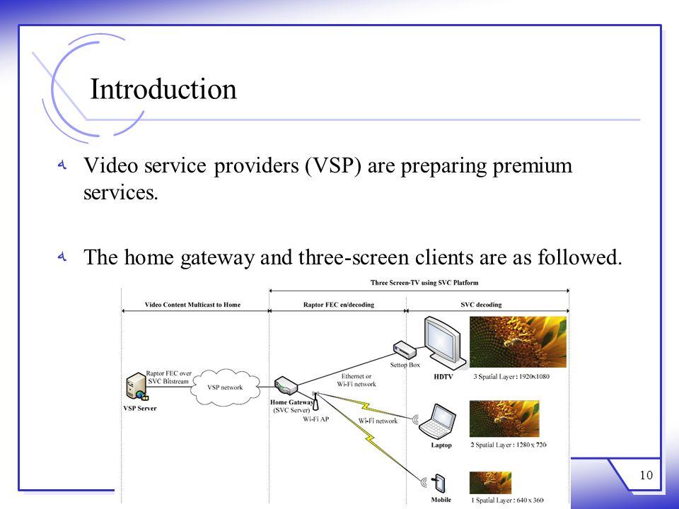 Introduction Video service providers (VSP) are preparing premium services.