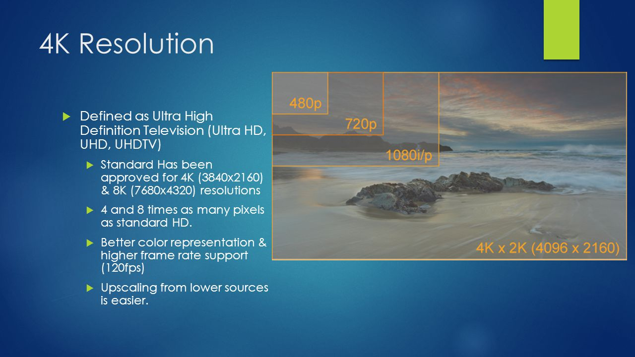 4K Resolution Defined as Ultra High Definition Television (Ultra HD, UHD, UHDTV)