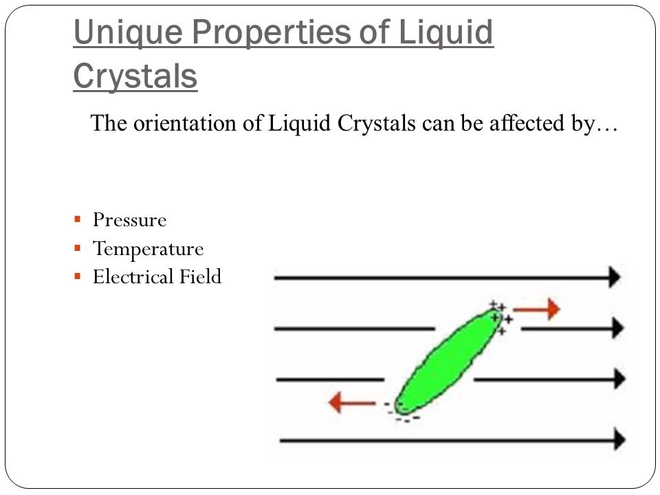 Unique Properties of Liquid Crystals