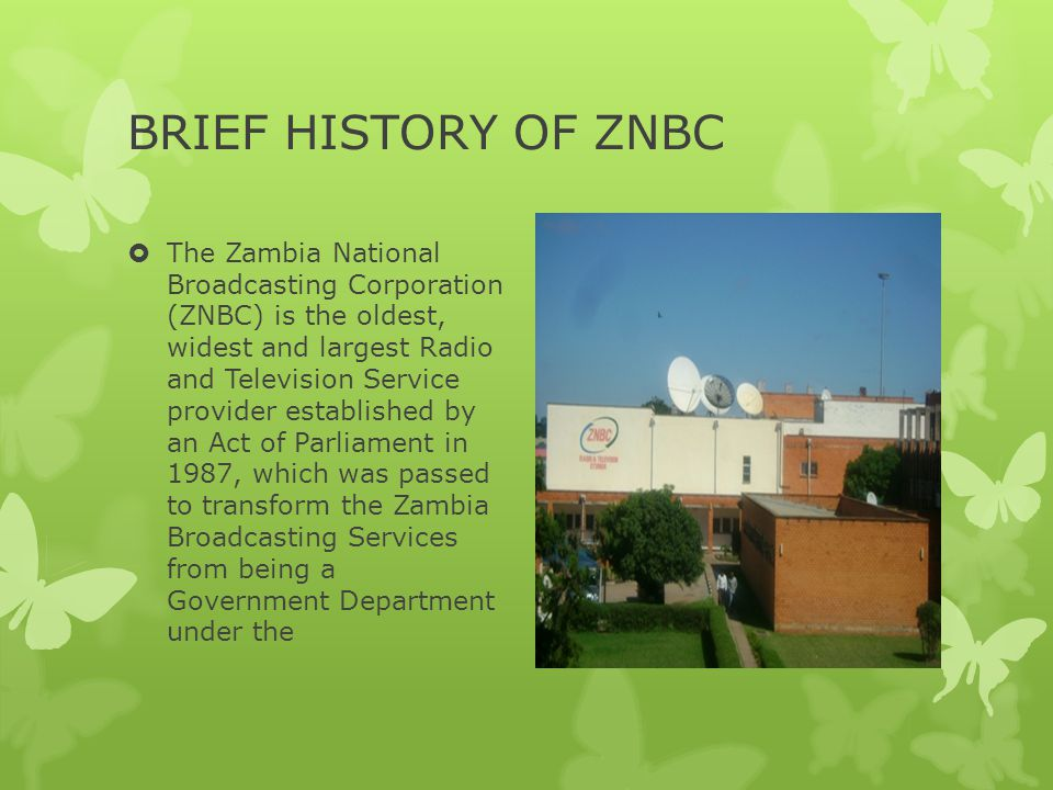 BRIEF HISTORY OF ZNBC
