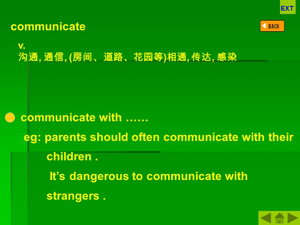 eg: parents should often communicate with their children .