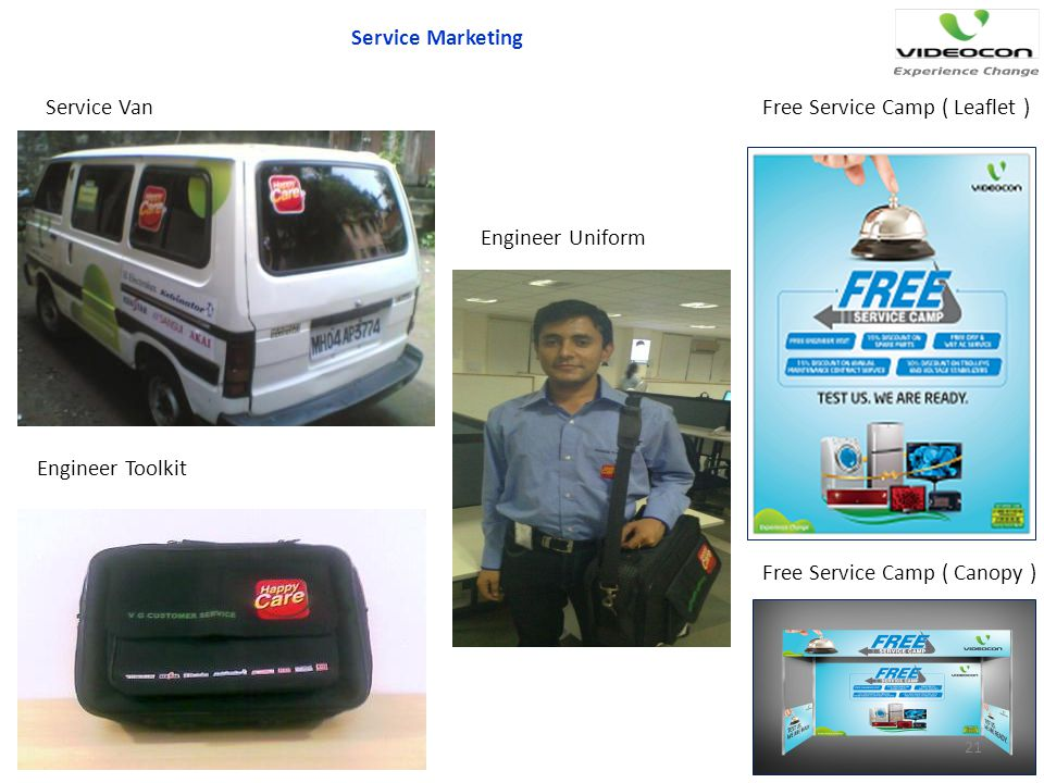 Service Marketing Service Van. Free Service Camp ( Leaflet ) Engineer Uniform. Engineer Toolkit.