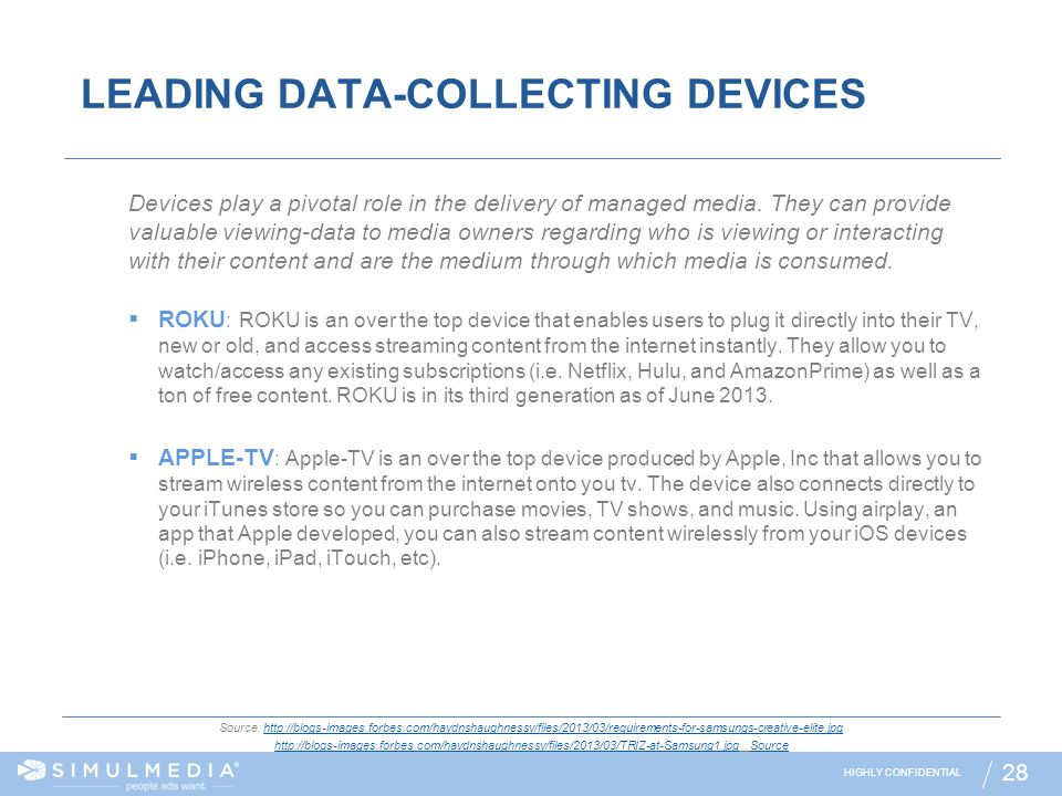 LEADING DATA-COLLECTING DEVICES