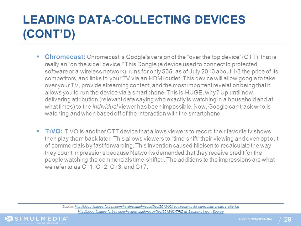 LEADING DATA-COLLECTING DEVICES (CONT'D)