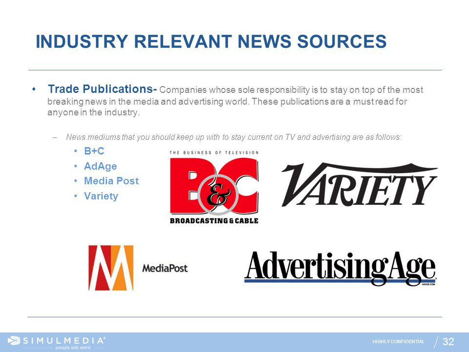 INDUSTRY RELEVANT NEWS SOURCES