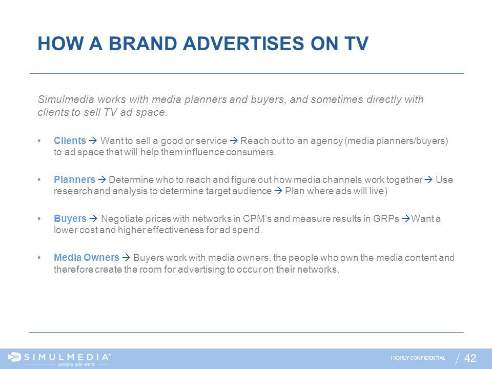 HOW A BRAND ADVERTISES ON TV