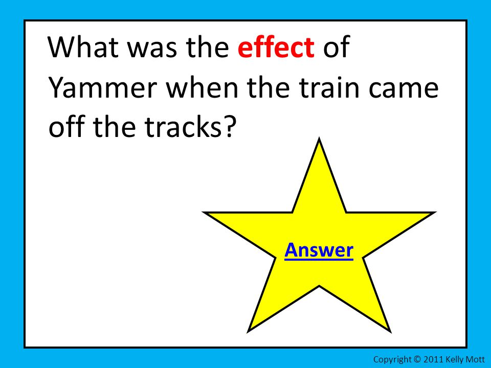 What was the effect of Yammer when the train came off the tracks