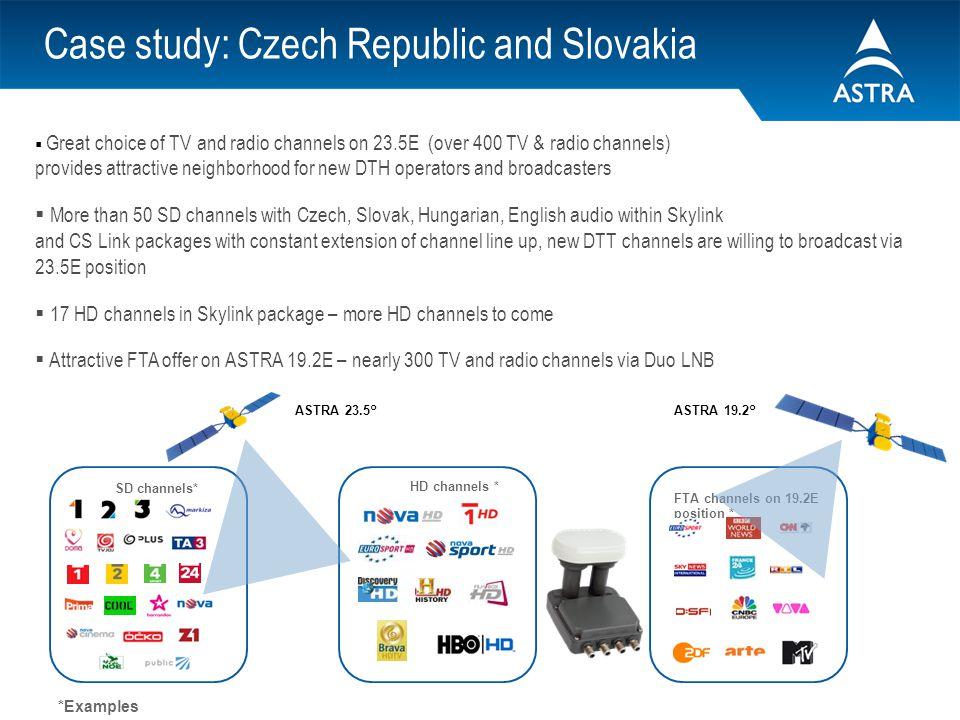 Case study: Czech Republic and Slovakia