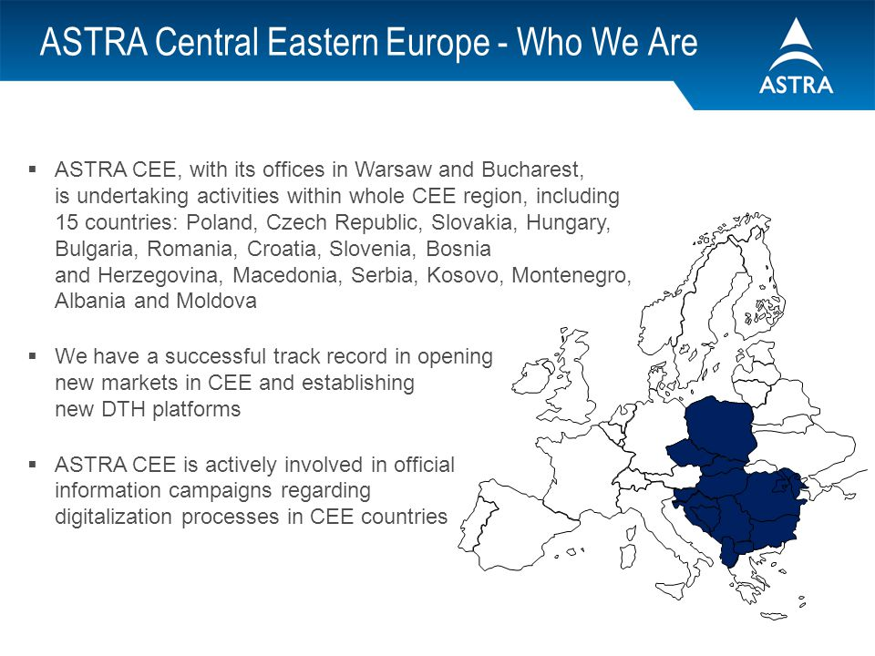 ASTRA Central Eastern Europe - Who We Are