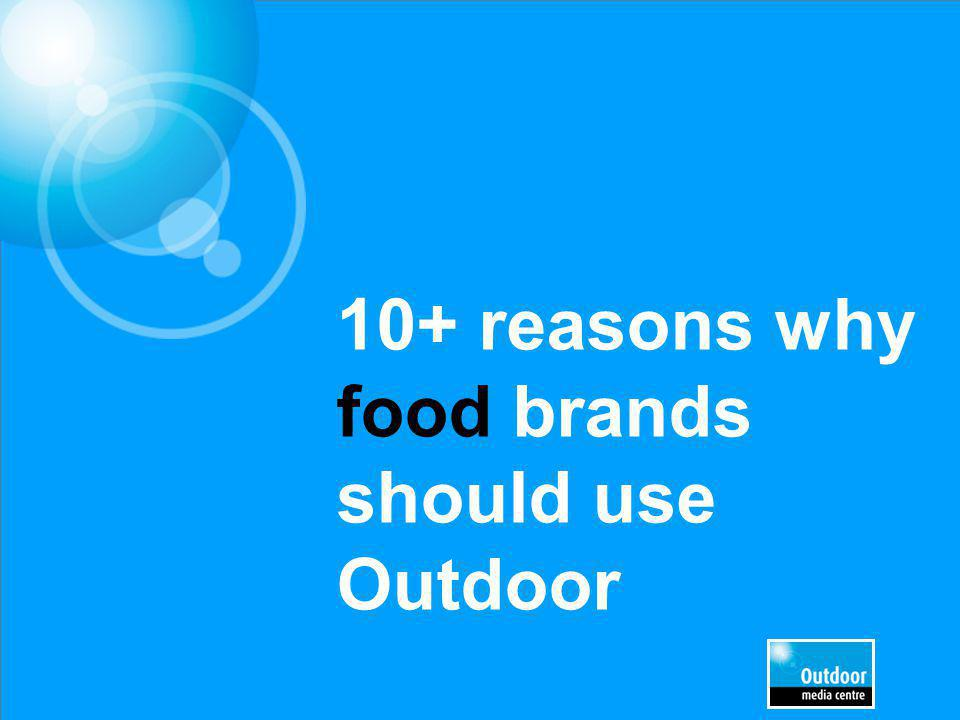 10+ reasons why food brands should use Outdoor