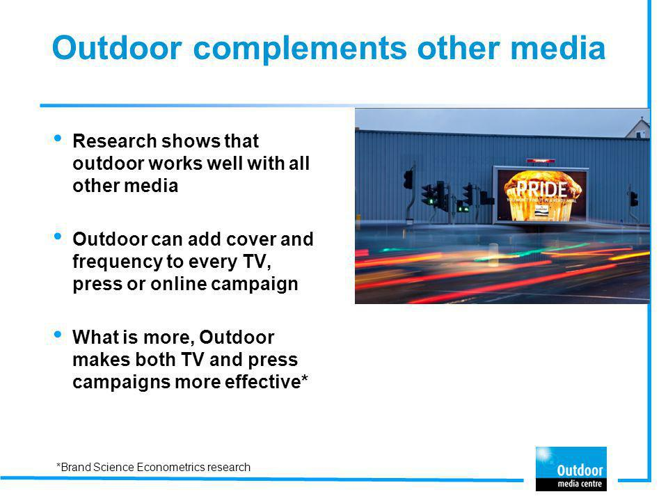 Outdoor complements other media