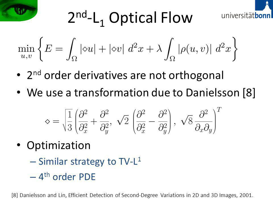 2nd-L1 Optical Flow 2nd order derivatives are not orthogonal