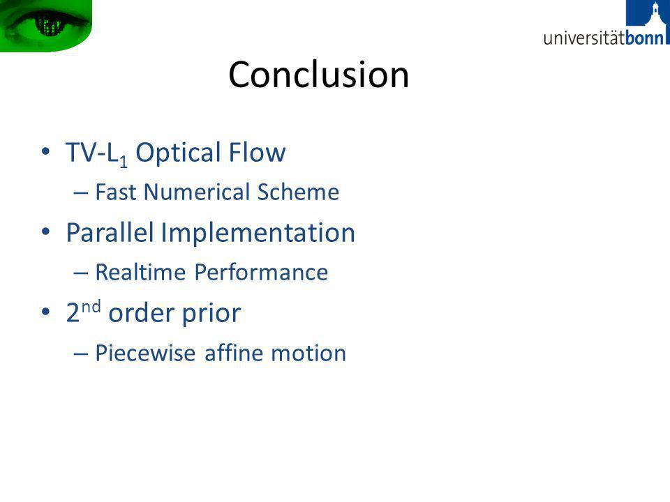 Conclusion TV-L1 Optical Flow Parallel Implementation 2nd order prior
