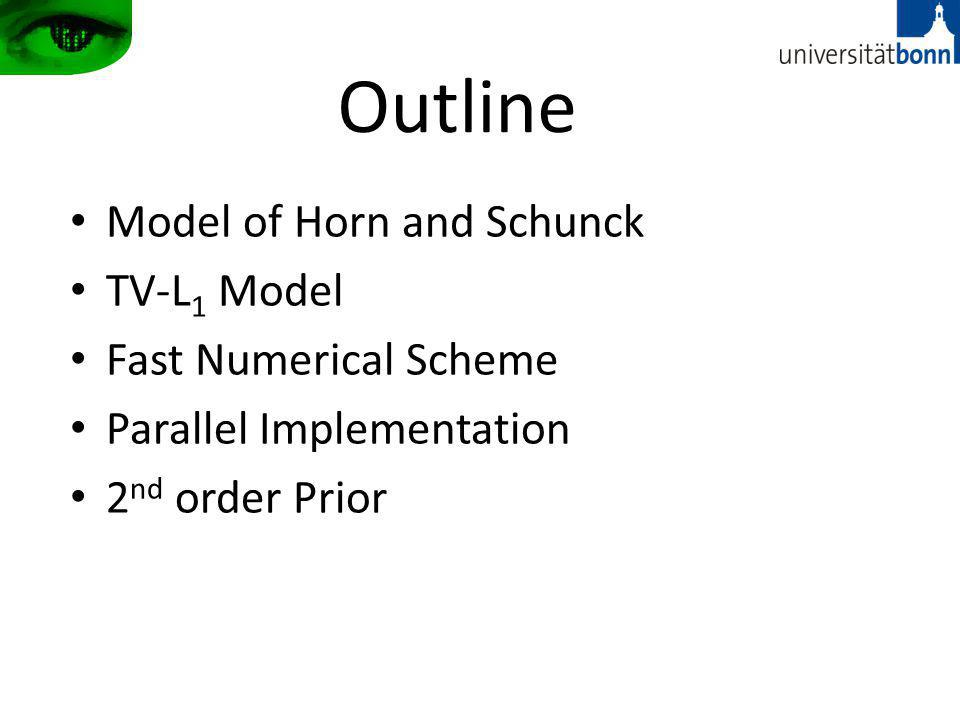 Outline Model of Horn and Schunck TV-L1 Model Fast Numerical Scheme