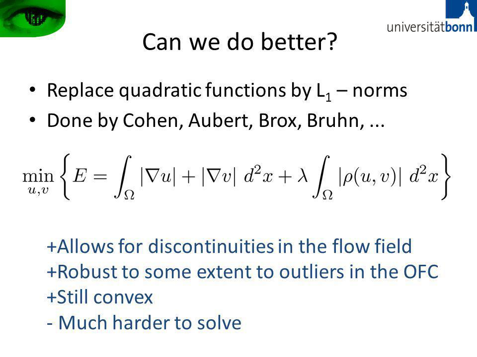 Can we do better Replace quadratic functions by L1 – norms