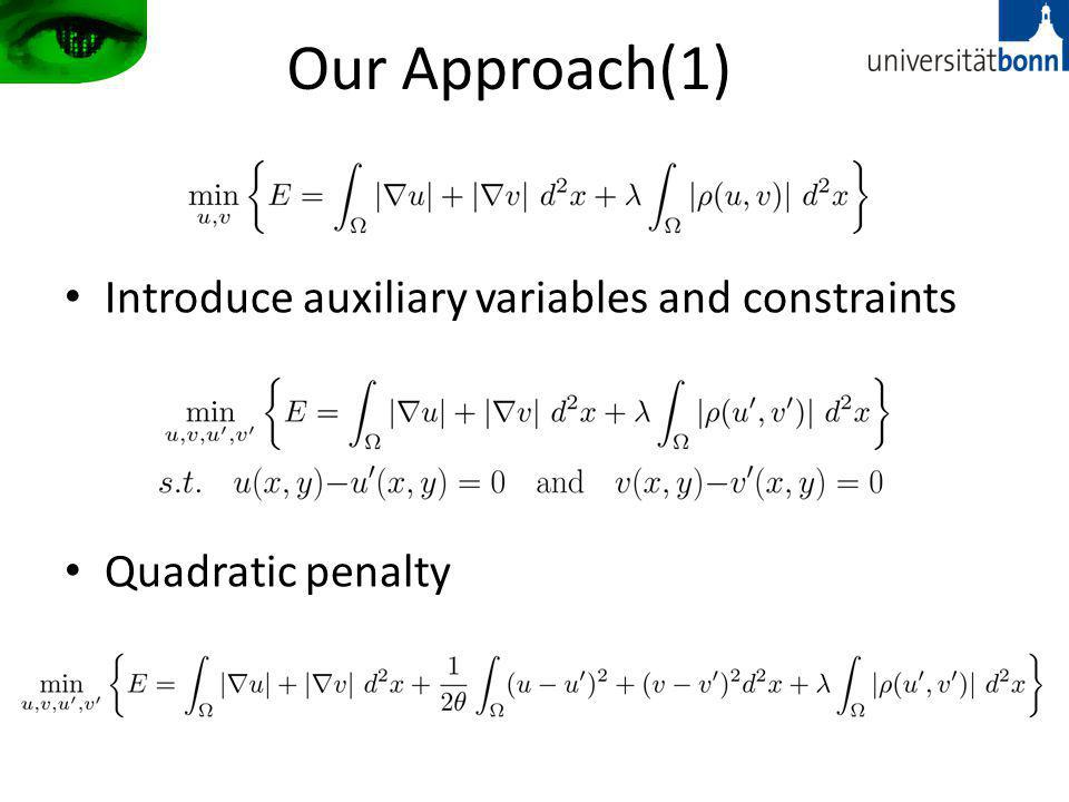 Our Approach(1) Introduce auxiliary variables and constraints