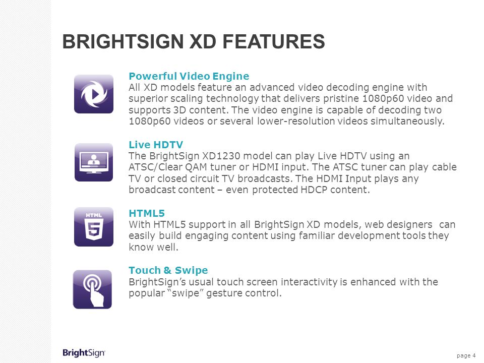 BrightSign XD Features