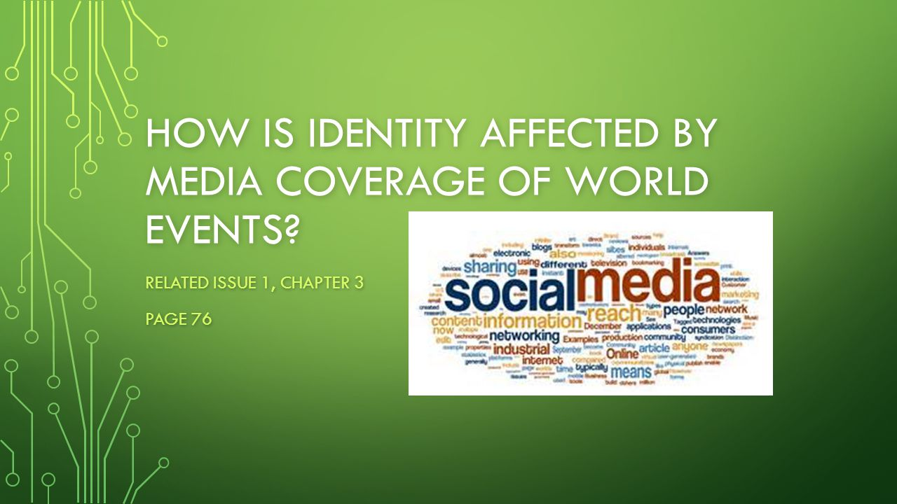 How is identity affected by media coverage of world events