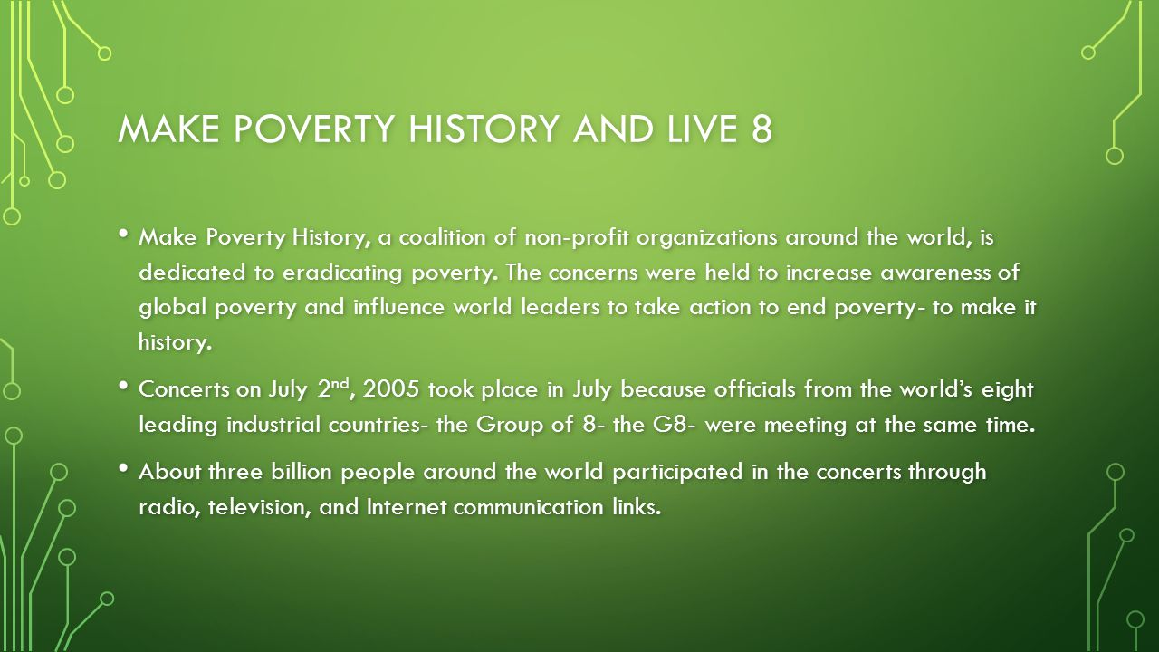 Make Poverty history and Live 8