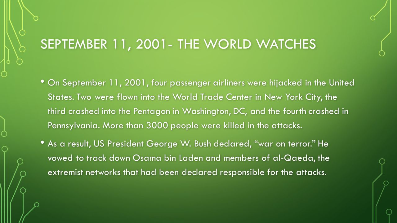 September 11, The World Watches