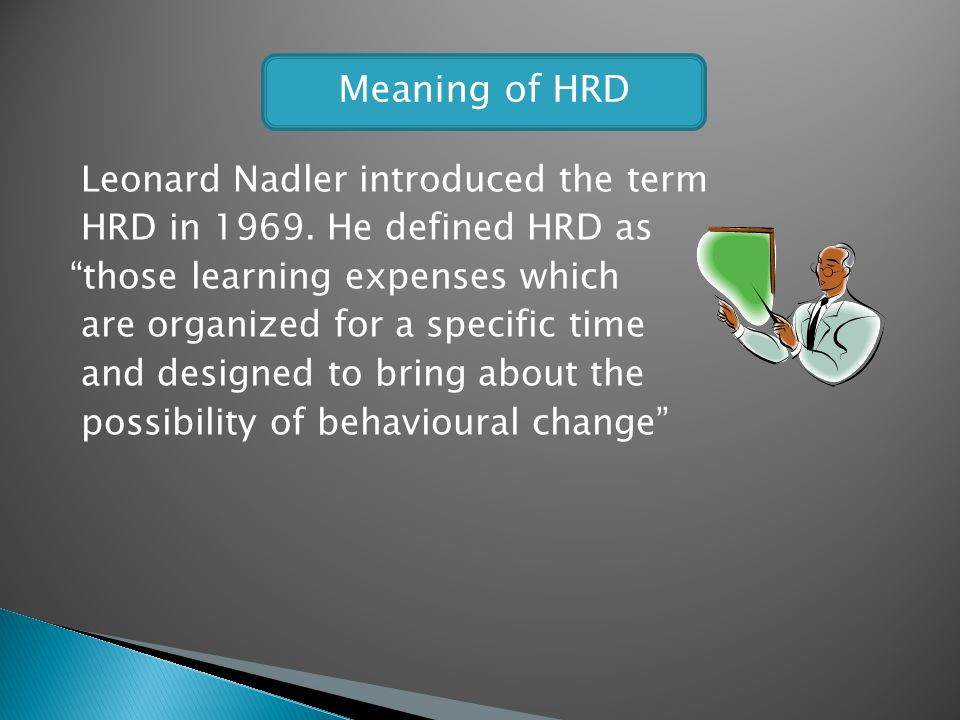 Meaning of HRD