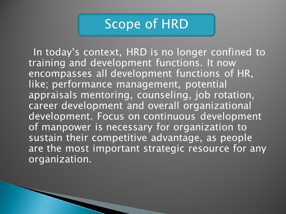 Scope of HRD