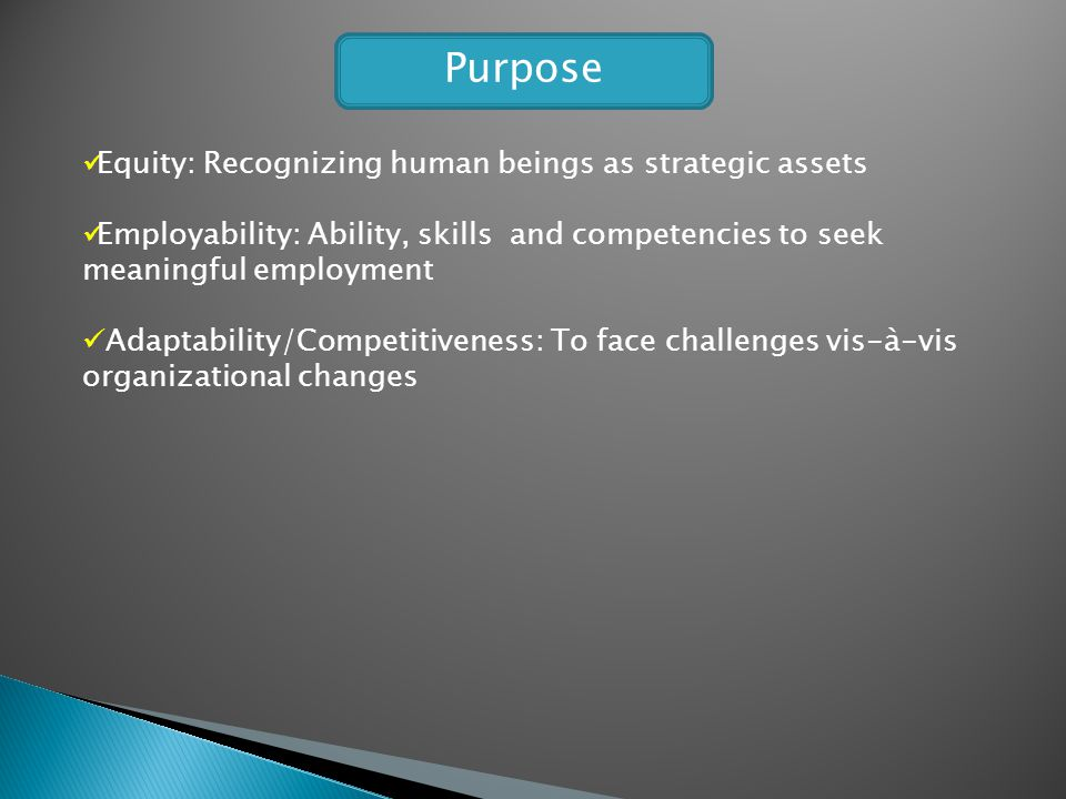Purpose Equity: Recognizing human beings as strategic assets