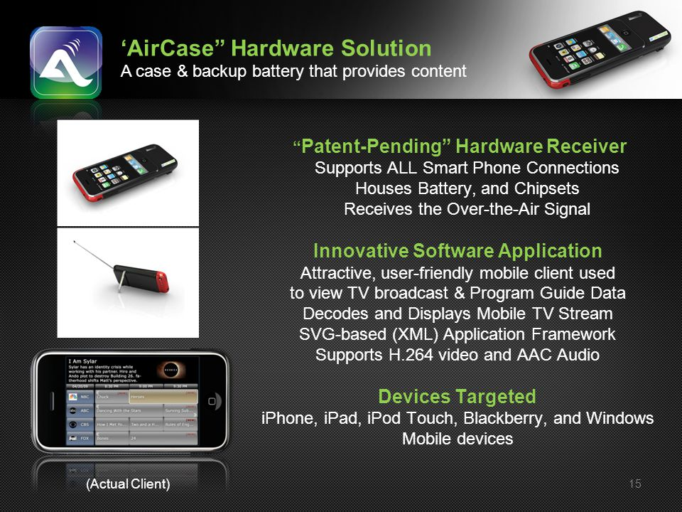 'AirCase Hardware Solution