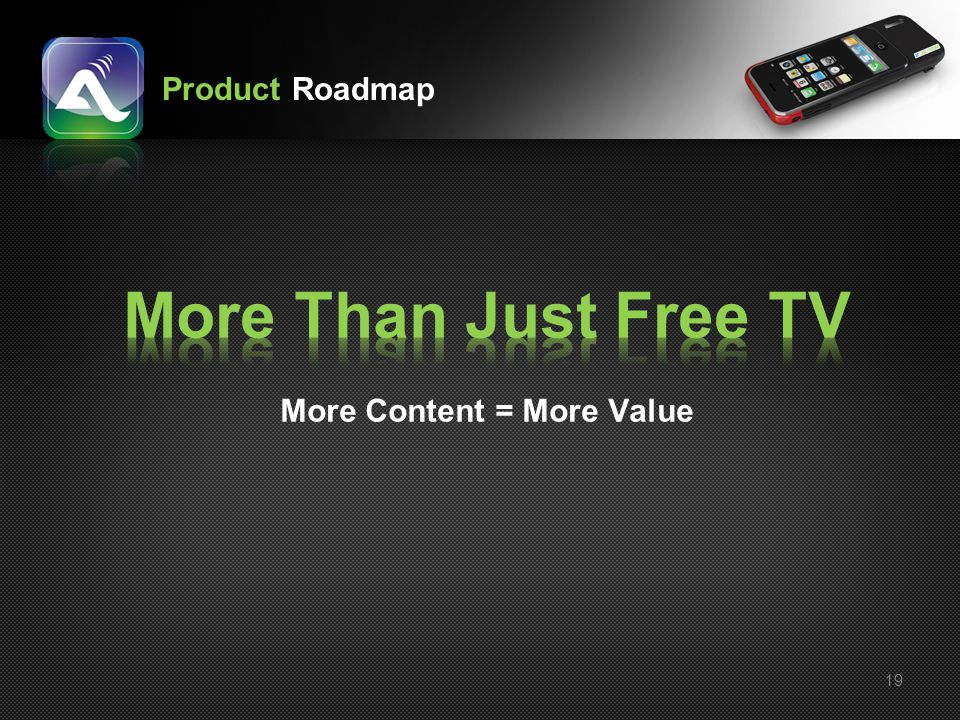 More Than Just Free TV More Content = More Value