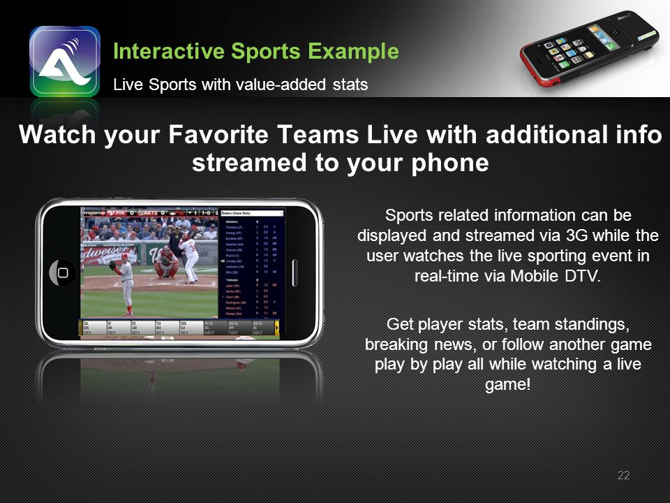 Interactive Sports Example