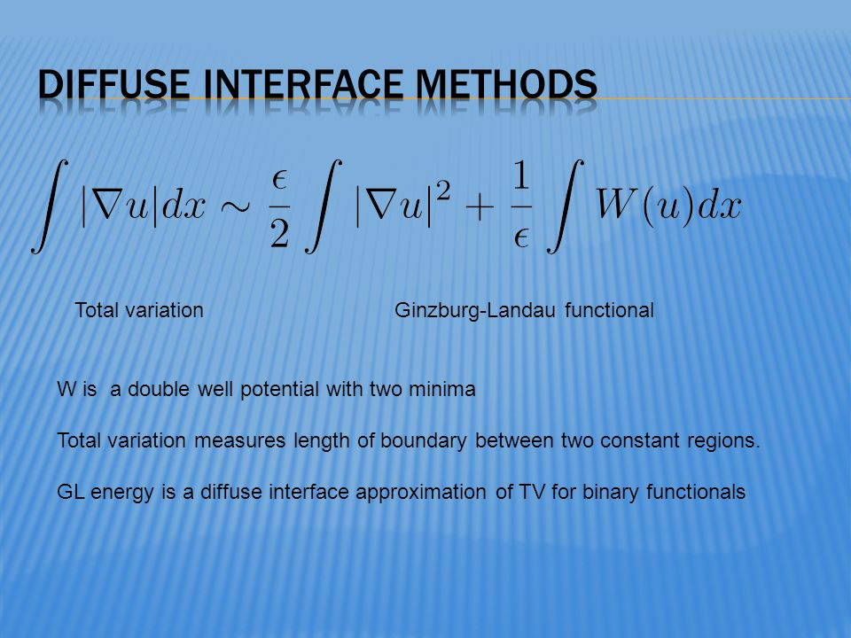 Diffuse interface methods