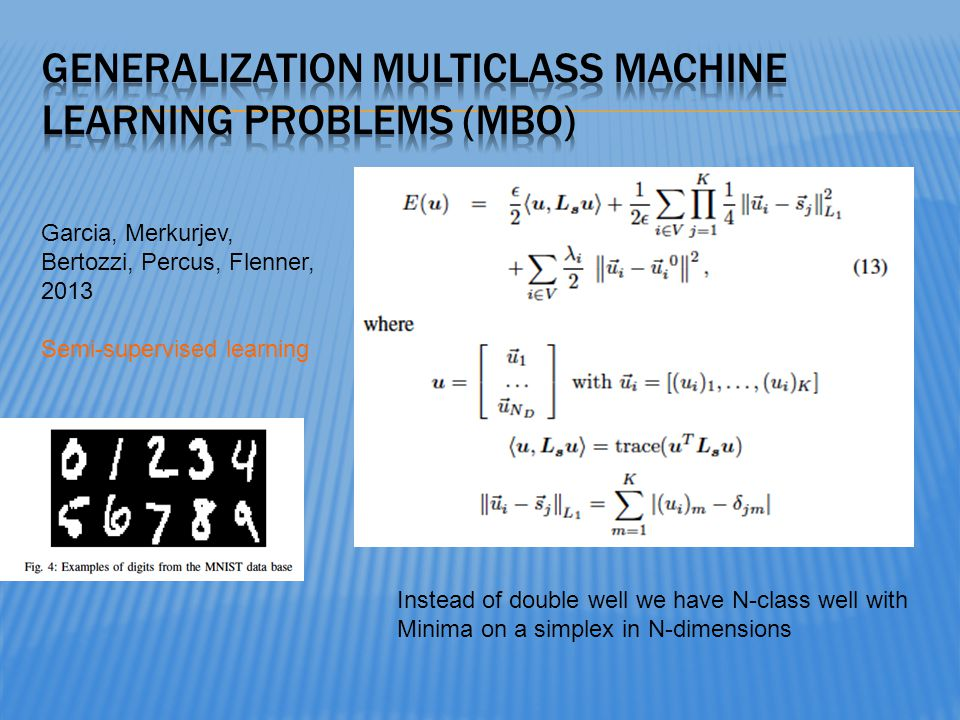 Generalization MULTICLASS Machine Learning Problems (MBO)