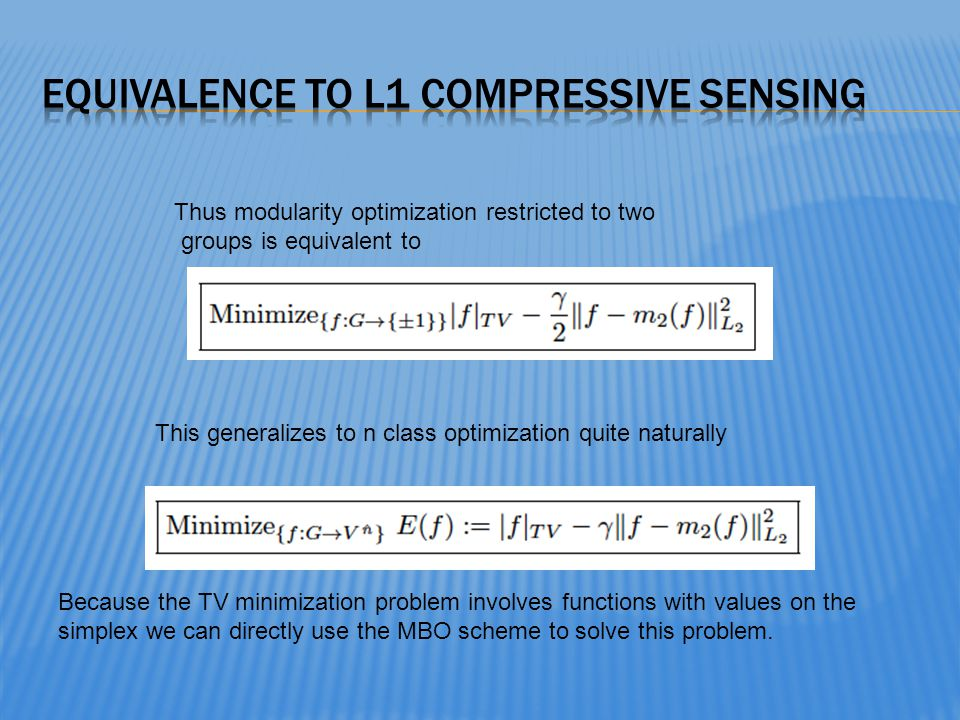 Equivalence to L1 compressive sensing