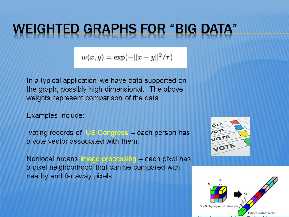 Weighted graphs for big data
