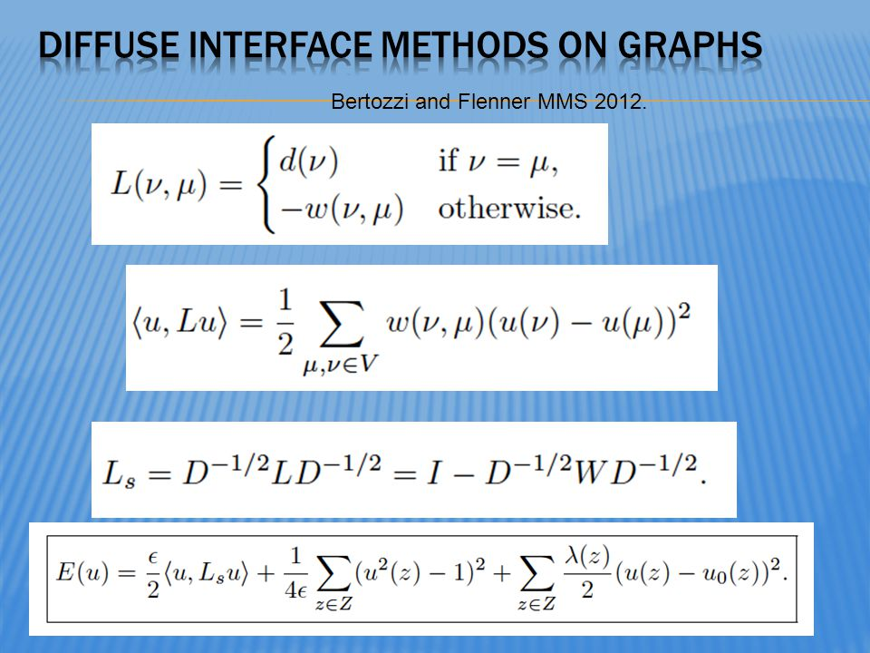 Diffuse interface methods on graphs
