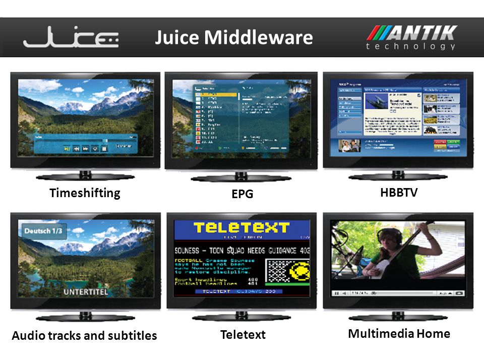 Juice Middleware Timeshifting HBBTV EPG Multimedia Home
