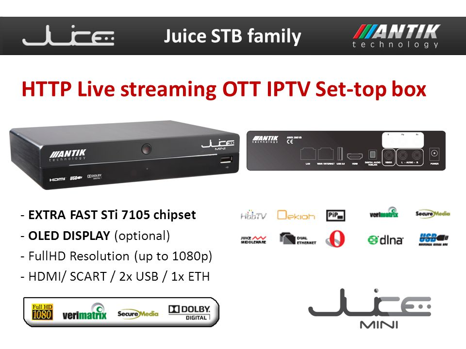 HTTP Live streaming OTT IPTV Set-top box