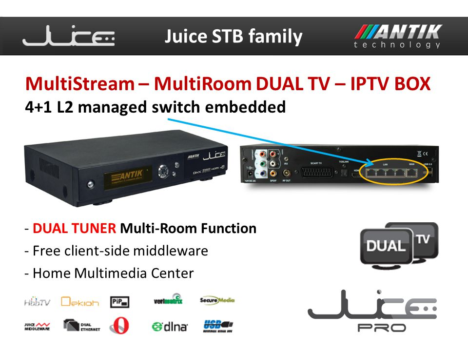 MultiStream – MultiRoom DUAL TV – IPTV BOX