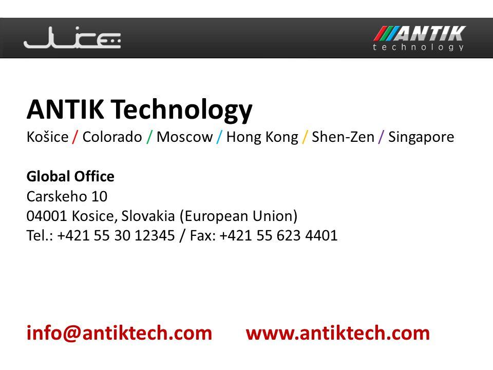 ANTIK Technology info@antiktech.com www.antiktech.com
