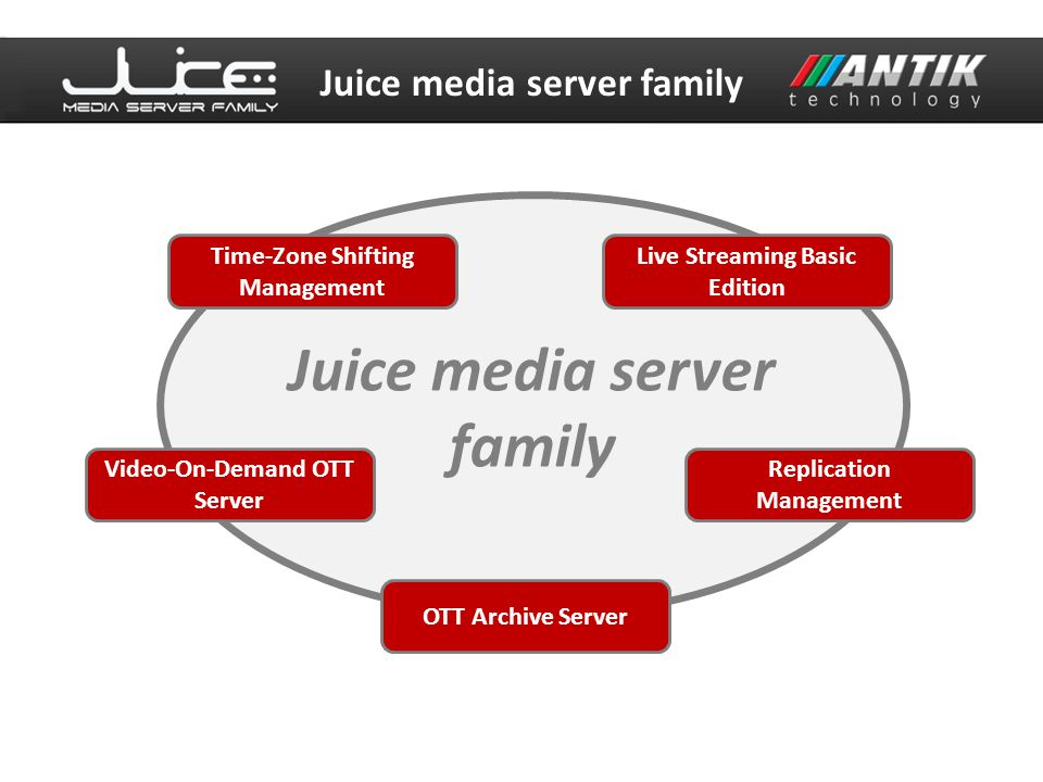 Juice media server family