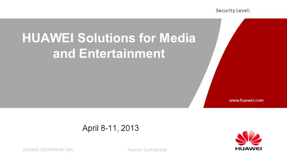 Agenda Huawei Company Background Media solutions overview