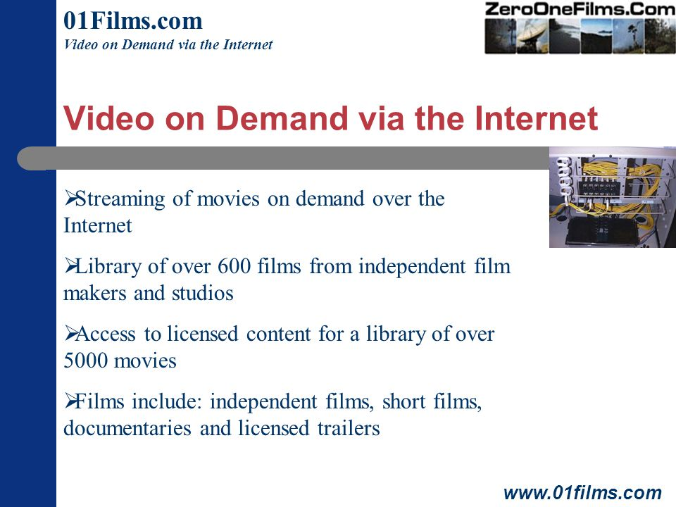 Video on Demand via the Internet